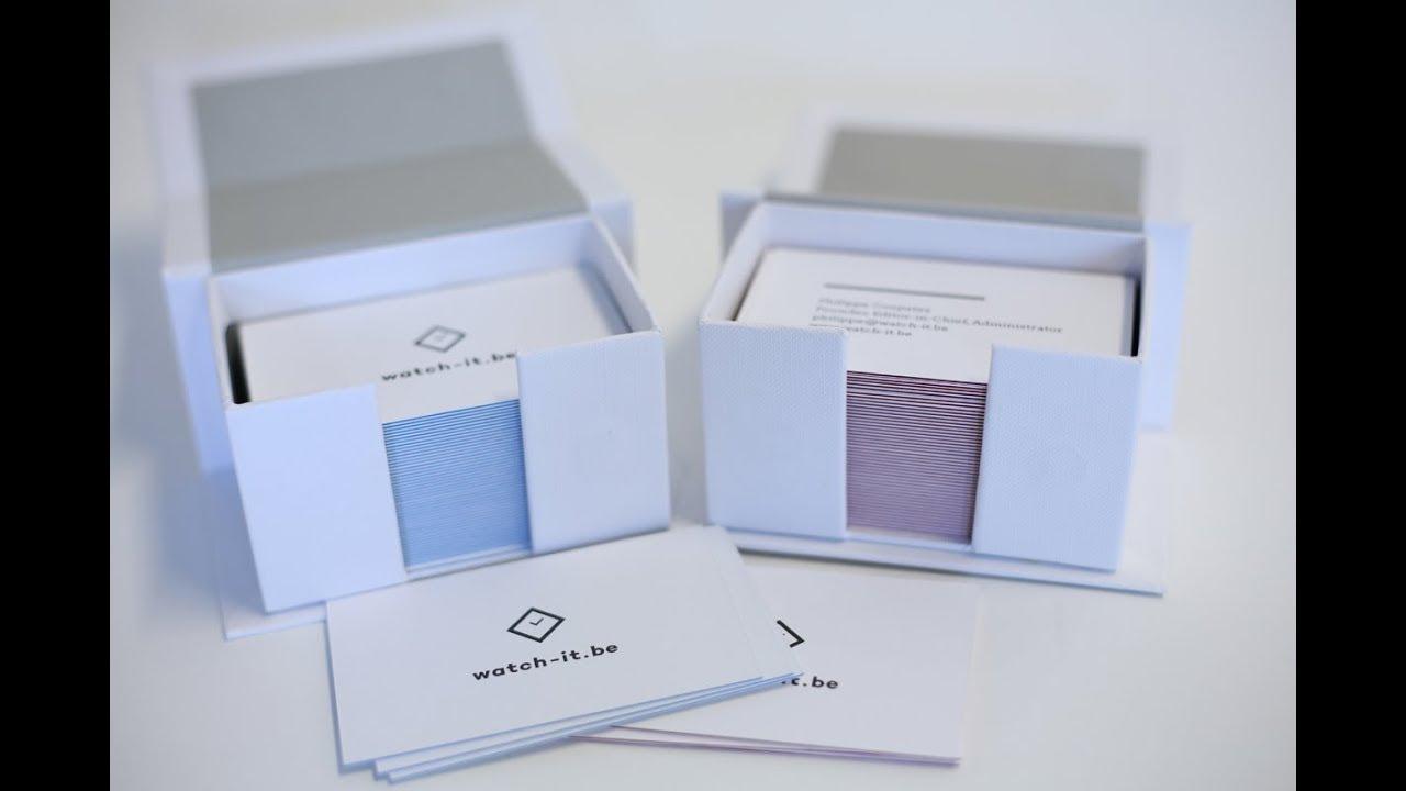 Unboxing Moo Luxe Business Cards Avec Couche Bleue Et Couche Rouge