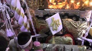 2015 年津田天満神社秋祭り宵宮 加茂屋台拝殿練り アクシデントから迫力の一気差し
