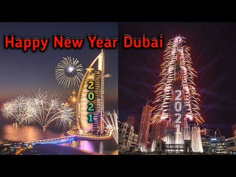 Burj Khalifa & Burj Al Arab Fireworks 2021