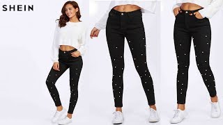 SHEIN Women Jeans Pants Skinny Summer Denim Casual Pants Review