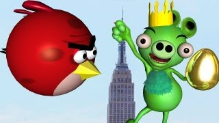 KING KONG ?  KING PIG ! ♫ 3D animated Angry Birds spoof mashup ☺ FunVideoTV - Style ;-))