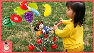 콩순이 장난감 뽀로로 카트놀이 꾸러기 유니 과일 장보기놀이 ♡ 인기동요 마트놀이 learn fruits kids finger family | 말이야와아이들 MariAndKids