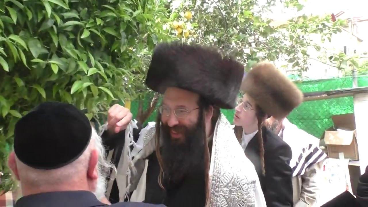 Spinka Rebbe Of Ganei Gad Making The Birkas Ha'ilonos - 5779