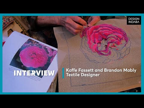 Kaffe Fassett and Brandon Mably: Textile designers who paint