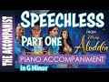 Speechless (Part 1) - from the Disney live action movie Aladdin - Piano Accompaniment - Karaoke