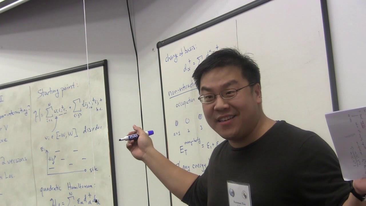 Norman Yao, UC Berkeley - Lecture II - March 12, 2019