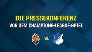 Die Pressekonferenz vor dem Champions-League-Spiel der TSG Hoffenheim bei Schachtar Donezk