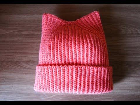 Видеоурок вязания шапочки для девочки крючком