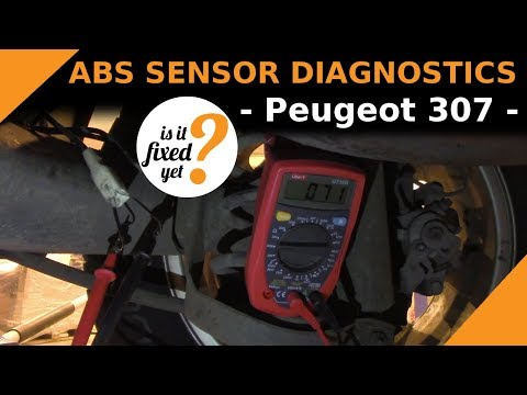 How to DIAGNOSE the ABS Sensor problem - Peugeot 307