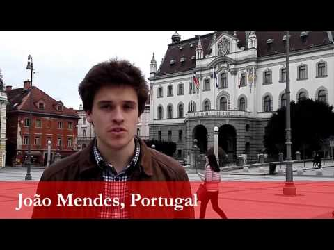 João Mendes, student from Portugal at the University of Ljubljana