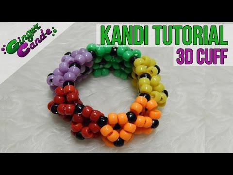 3D Cuff - [Kandi Tutorial] | @GingerCandE