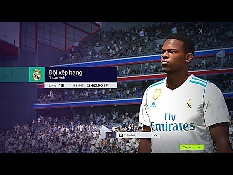 """FIFA ONLINE 4: XẾP HẠNG FO4 VỚI ĐỘI HÌNH """" TRẺ - BỔ - RẺ """" +5 Với B. Embolo SS17 - Shoptaycam.com"""