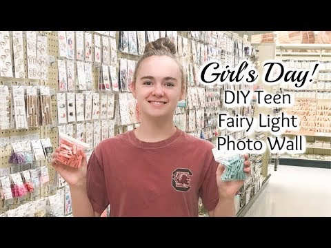 Girl's Day | DIY Teen Fairy Light Photo Wall | Hobby Lobby Shop With Us