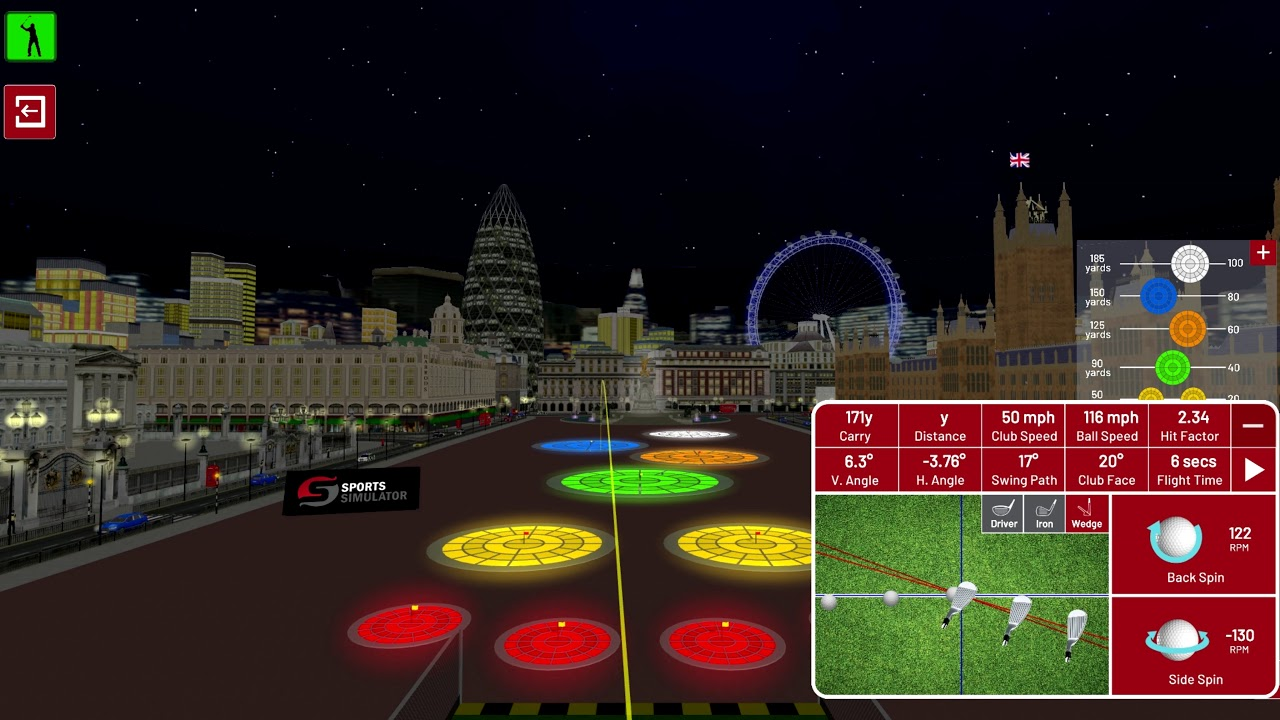 Golf Environment - London - Night Targets