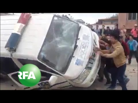 Police, Waste Pollution Protesters Clash in Guangdong