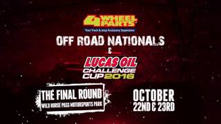 Lucas Oil Off Road Racing Series, Challenge Cup 2016