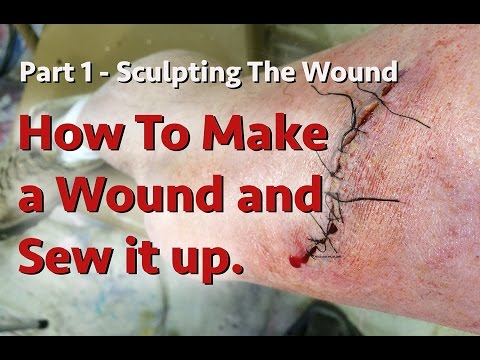 DIY How To Make a Wound and Sew It Up - Part 1 Sculpting
