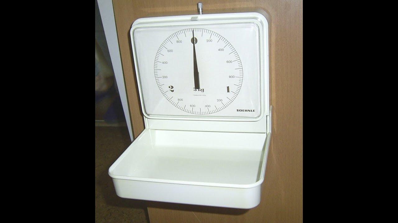 Wandwaage Funktionstest 70er Soehnle Kitchenwall Scale