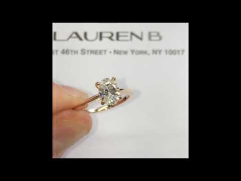 1.20 ct Oval Diamond Rose Gold Engagement Ring