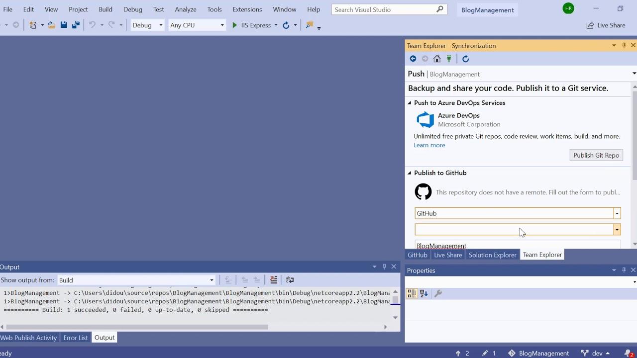[Tips Beginner]Publish to Github from Visual Studio 2019