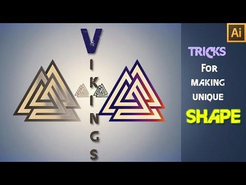 How to create Triangle Shape | Vikings Triangle shape | Adobe Illustrator Tutorial