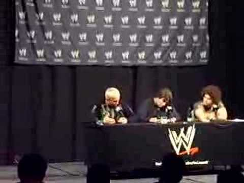 Mr. Kennedy talks about Chris Benoit at a press conference in Chile