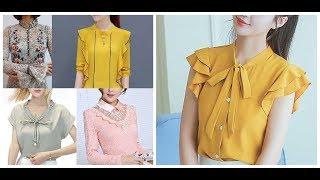 Simple Front Neck Design Ideas For Ladies Tops=Neckline Ideas For Dress\Blouses\Suits