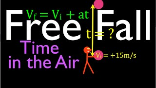 Physics, Kinematics, Free Fąll (6 of 12) Total Time In the Air from Known Initial Velocity