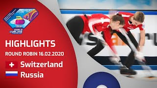 HIGHLIGHTS: Switzerland v Russia - Women's round robin - World Junior Curling Championships 2020