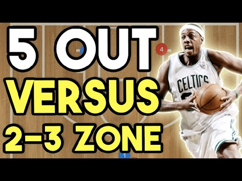 5 Out Offense vs  2-3 Zone Defence | Offensive Basketball Plays