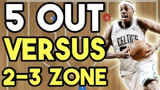 5 Out Offense vs  2-3 Zone Defence - Offensive Basketball Plays