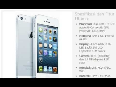 Harga HP  APPLE iPhone 5 64GB - YouTube 2ff6ec3eab