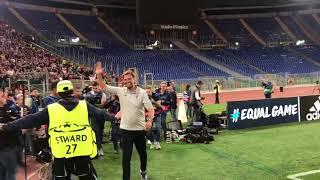 LFC fans in Rome sing Jurgen Klopp na na na na naaa!!!