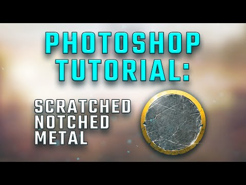 PS CC Tutorial: Scratched, Notched, Metal with a Trim