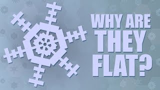 Why Do Snowflakes Seem Flat?