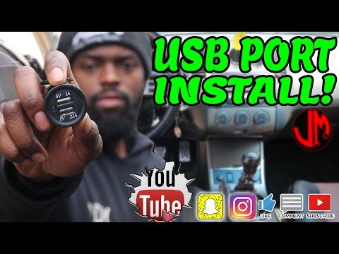Replacing The Cigarette Lighter With A USB PORT