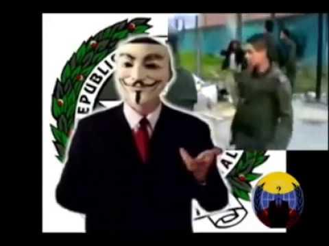Anonymous Colombia Comunicado Policía Nacional