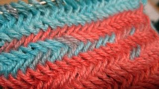 How to Knit The Horizontal Herringbone Stitch_ Узор - Колосок
