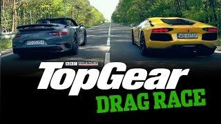 Drag Race TopGear Polska: Porsche 911 Turbo S Cabriolet vs Lamborghini Aventador