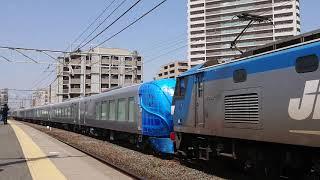 2019/4/6    西武鉄道  001系[Laview]  甲種輸送  安城駅入線