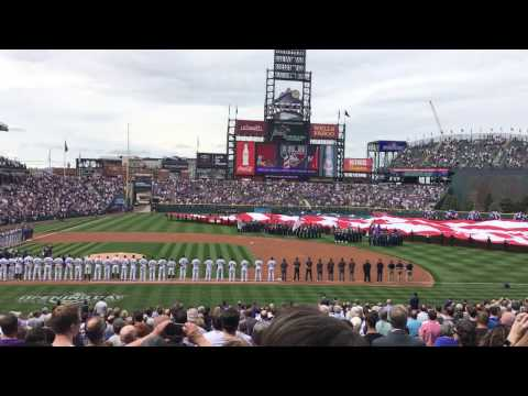 Rockies 2017 - Home Opener Flyover and National Anthem 2017 at Coors Field