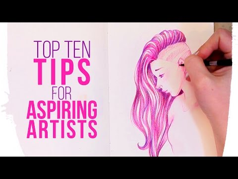 My TOP TEN TIPS for ASPIRING ARTISTS | Ft Sketchbook Drawing
