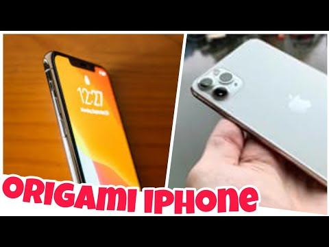 Paper IPHONE 11 PRO !!! (TUTORIAL) ORIGAMI NO GLUE 2 SHEETS ONLY !!! 🔥🔥🔥
