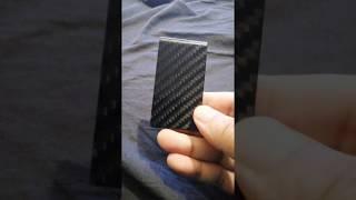 Carbon Fiber Money Clip Credit Card Holder - BLACK