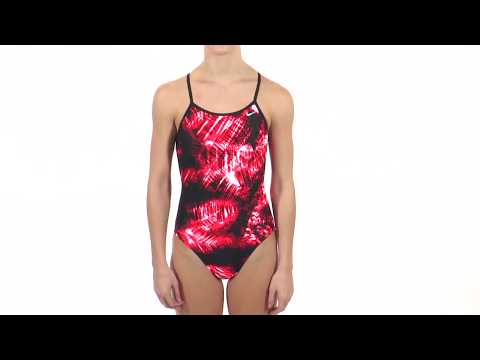 Nike Swim Solar Canopy Modern Lingerie Tank One Piece Swimsuit | SwimOutlet.com
