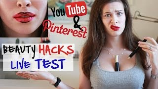 6 BEAUTY HACKS im LIVE TEST | TOPs & FLOPs von YouTube & Pinterest getestet