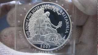 [HD] 2007 Proof Britannia - 1 oz Silver Coin - The Royal Mint
