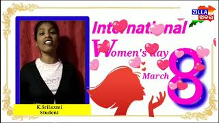 International women's day speech by Srilaxmi || Zillakhabar ||