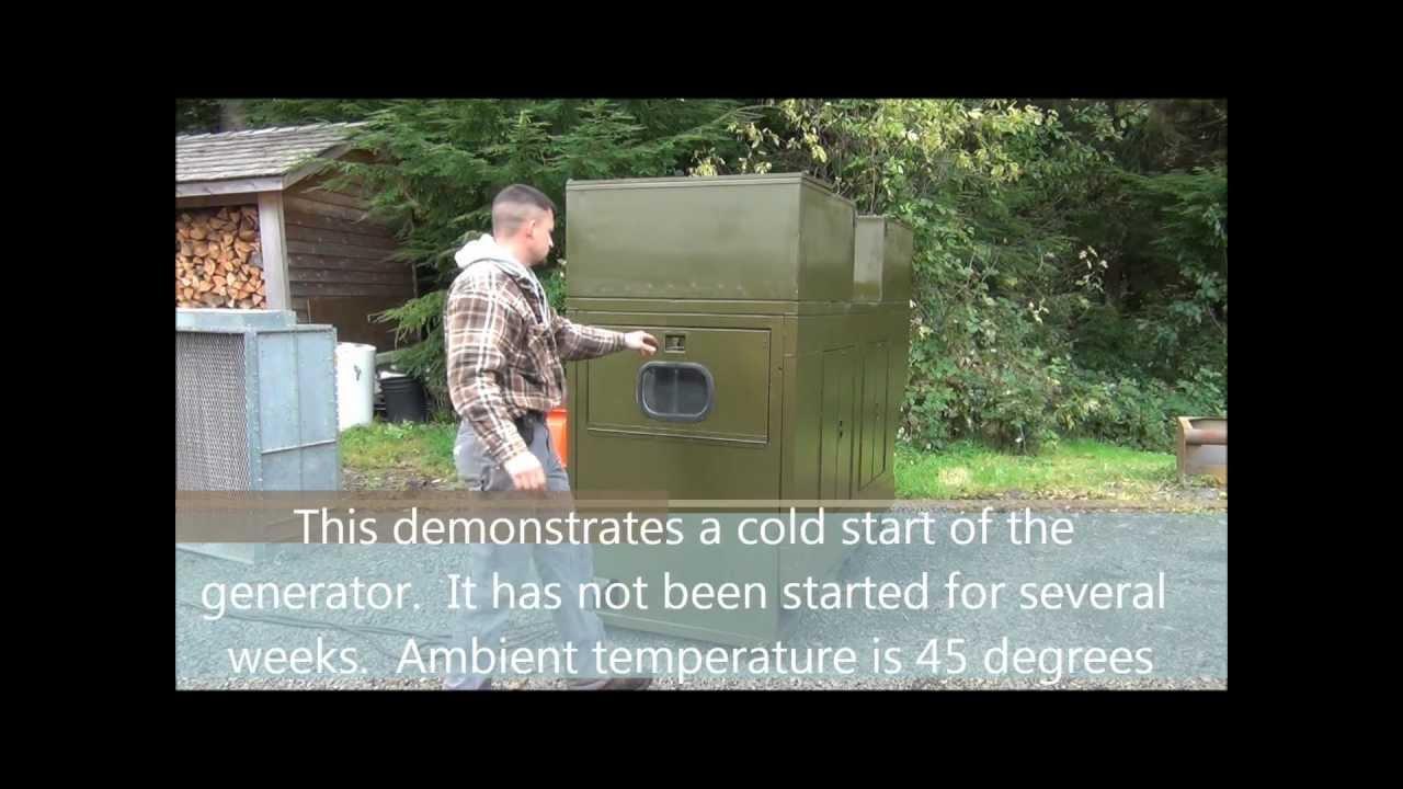 MEP-004a 15kW diesel generator testing