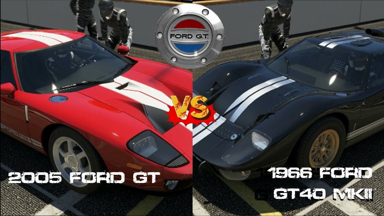 forza 5 2005 ford gt vs 1966 ford gt40 mkii gameplay youtube - 1966 Ford Gt40 Mk2